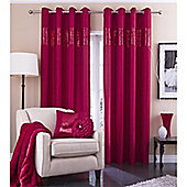 Catherine Lansfield Home Silk Sequin Red Curtains 90x90