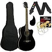 Tiger Black Electro Acoustic Guitar Pack