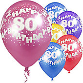 """Age 80 - 12"""" Superprint Balloons ASST (5pk)"""