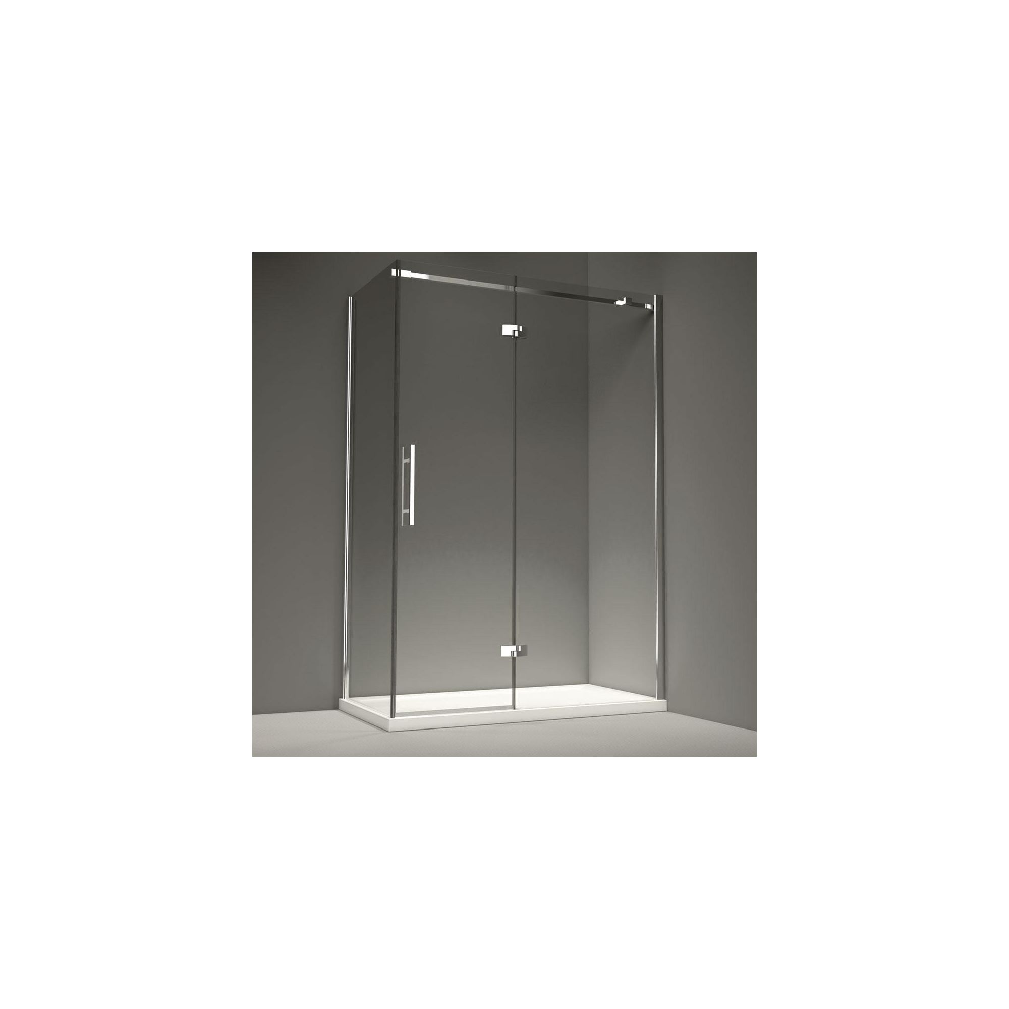 Merlyn Series 9 Inline Hinged Shower Door, 1600mm Wide, 8mm Glass, Right Handed at Tesco Direct