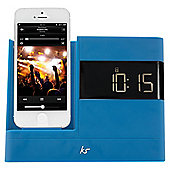 Kitsound X-Dock with FM Radio for iPhone 5/5s/6/6 Plus, Blue