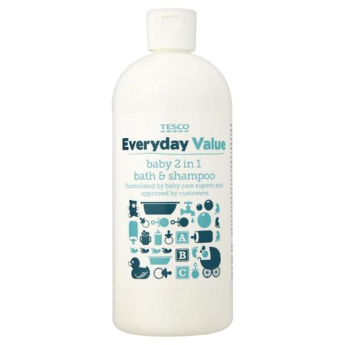buy tesco everyday value baby 2 in 1 bath shampoo 500ml from our bath tubs range tesco. Black Bedroom Furniture Sets. Home Design Ideas