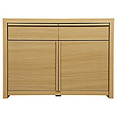 Tribeca 2 Door Oak Effect Sideboard