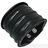 Urban Male Men's Black Leather Wide Cuff Bracelet 60mm