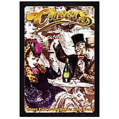 Black Wooden Framed Cheers Where Everybody Knows Your Name Poster