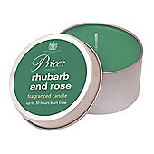 Prices Candle Tin Rhubarb and Rose