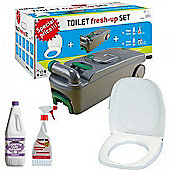 Caravan Motorhome Cassette Toilet Tank C400 Fresh Up Set