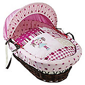 Clair De Lune My Dolly Dark Wicker Moses Basket