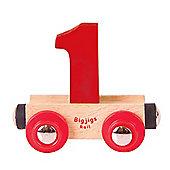Bigjigs Rail Rail Name Number 1 (Dark Red)