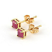 QP Jewellers 0.80ct Ruby Alexandra Stud Earrings in 14K Gold