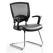 Maestro Odense Visitor Leather Cantilever Chair
