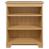 Caxton Sherwood Wide Low Open Bookcase in Natural Oak