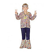 Child 60S Hippie Boy Outfit Large