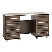 Ideal Furniture New York Double Dressing Table - American Walnut