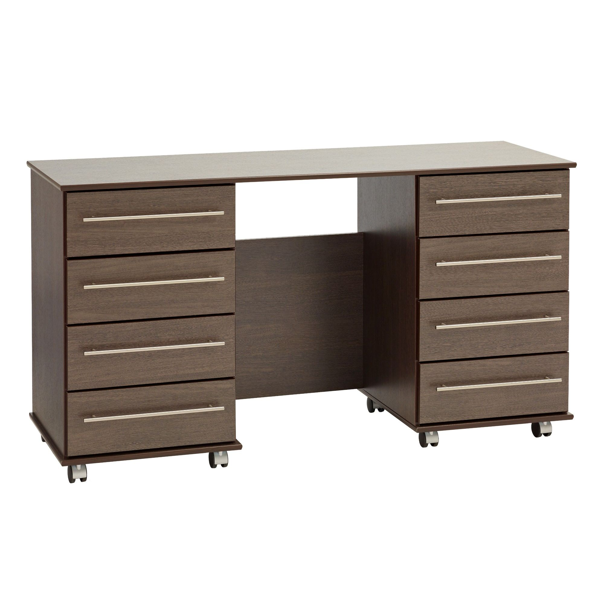 Ideal Furniture New York Double Dressing Table - American Walnut at Tesco Direct