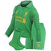 2012-13 Liverpool Home Goalkeeper Little Boys Mini Kit - Green