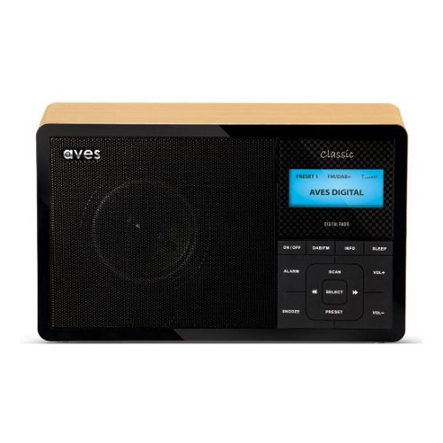 AVS CLASSIC DAB FM Digital Radio with Wood Effect Finish and 20 Presets