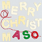 Merry Christmas Wooden Bunting(Pack of 14 letters)