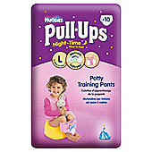 HUGGIES PULL UPSSIZE 6 GIRL NIGHT TIME 10