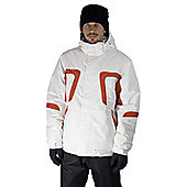 Mens Powder King Winter Skiing / Snowboarding Ski Jacket Coat Mountain Warehouse - White