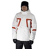 Mens Powder King Winter Skiing / Snowboarding Ski Jacket Coat Mountain Warehouse - White