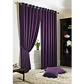 Madison Eyelet Lined Curtains - Purple