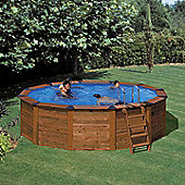 Octagonal Wooden Clad Steel Pool 3.9m