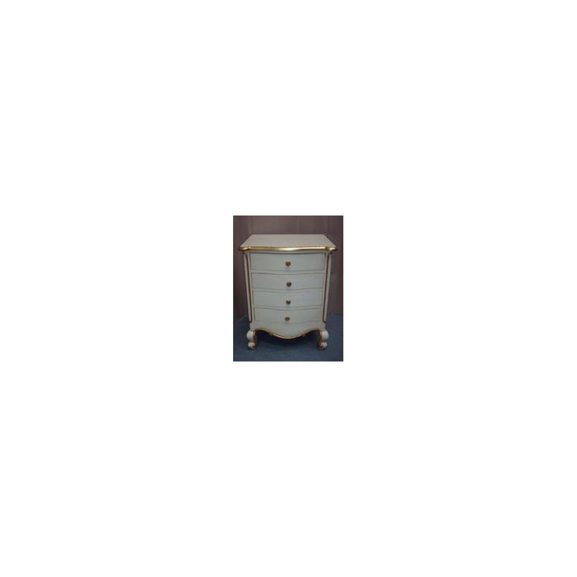 Lock stock and barrel Mahogany Louis 4 Drawer Bedside Table in Mahogany - Antique White at Tesco Direct