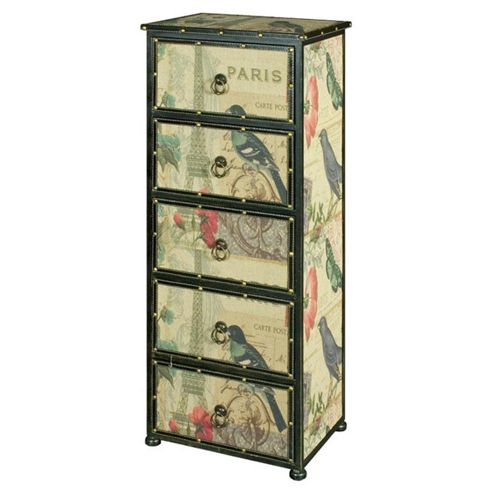 Alterton Furniture Paris 5 Drawer Tallboy Chest