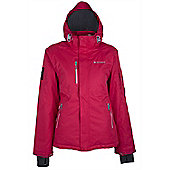 Gora Womens Extreme Waterproof Reflector Hooded Snowboarding Skiing Ski Jacket - Pink