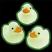 Glow-in-the-Dark Mini Rubber Ducks (4 Pcs)