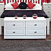 Welcome Furniture Pembroke 4 Drawer Bed Box - White