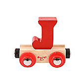Bigjigs Rail BR110 Name Letter J (Colours Vary)