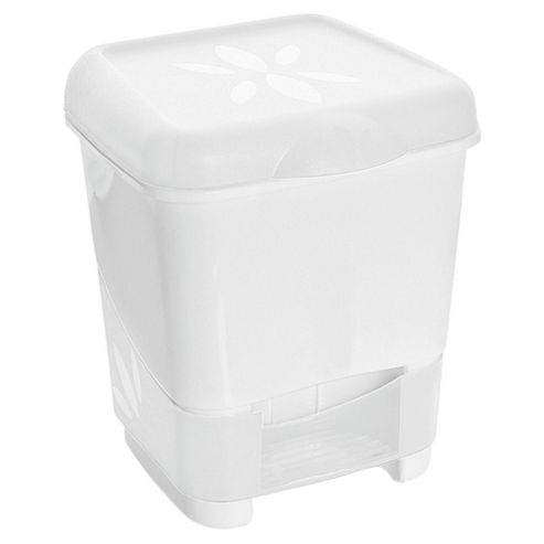 buy tesco value small pedal bin white from our bread bins. Black Bedroom Furniture Sets. Home Design Ideas