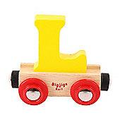 Bigjigs Rail Rail Name Letter L (Yellow)