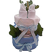 Mini Baby Boy Blue Nappy Cake