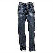 "Ciro Citterio Denim Straight Cut Mens Jeans - 34"" Leg - Mid blue"