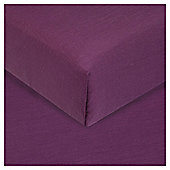 Tesco Flat Sheet Single Aubergine