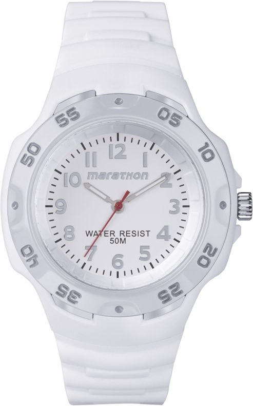 Timex Marathon Unisex Resin Luminous Hands Rotating Bezel Watch T5K750