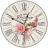 Smith & Taylor French Rose Wall Clock