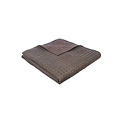 Casa Couture Pewter Silk Bedspread 19X22