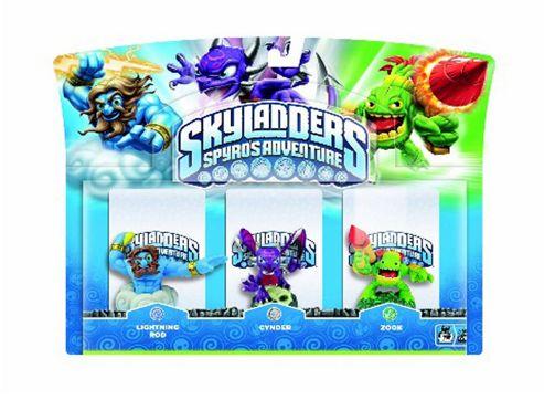 Skylanders - Triple Character Pack - Lightning Rod, Zook & Cynder