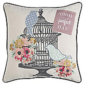 Piped Bird Cage Cushion