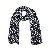 Black and White Mini Horse Print Scarf