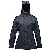 Regatta Ladies Pack It Waterproof Breathable Jacket RRP 30 - Navy