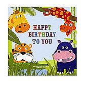 Jungle Friends Happy Birthday Card