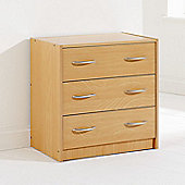 Elements Kirkland 3 Drawer Chest - Beech