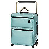 IT Luggage World's Lightest 2-Wheel Suitcase, Turquoise Small