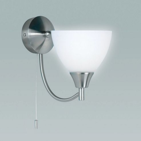 Buy Endon Lighting Wall Light in Satin Chrome from our Glass Lamp Shades range - Tesco