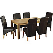 Belgravia Oak Rectangular Dining Set